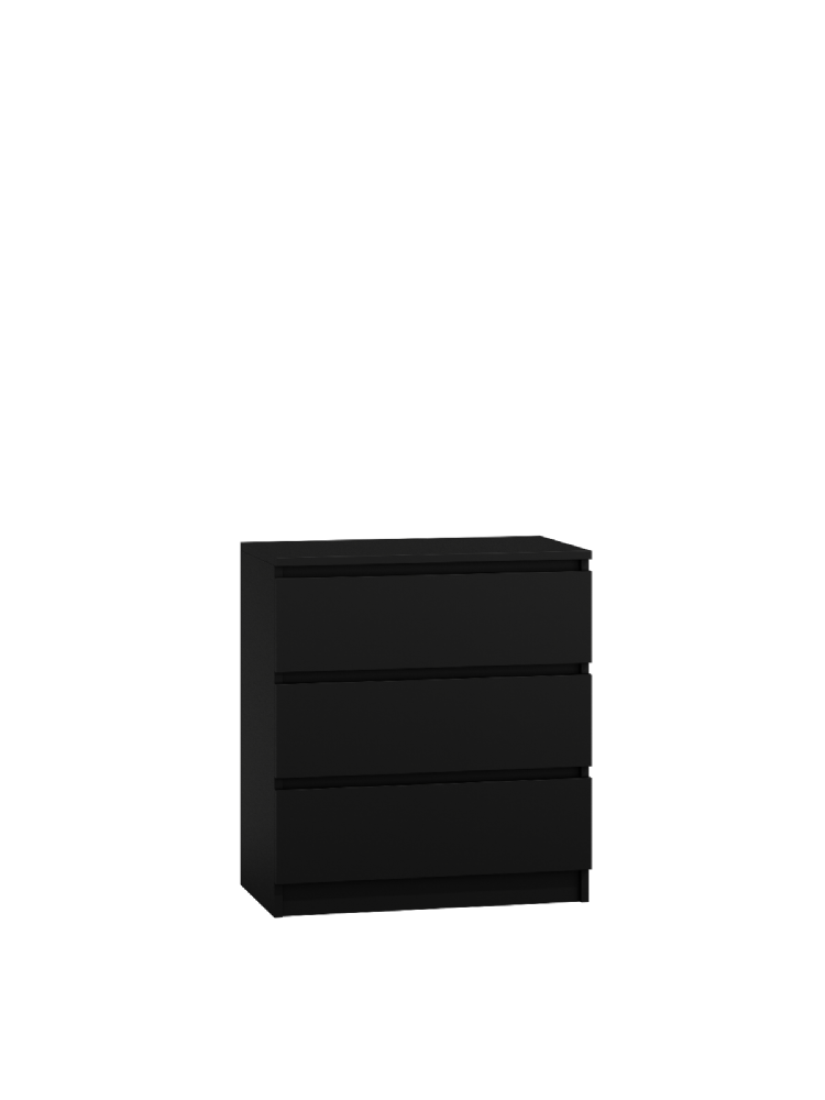 Moderna Black- 3 Drawer